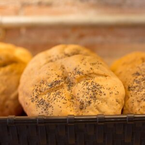 gluten free kaiser buns from Beat the Wheat
