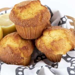 gluten-free lemon poppy seed muffin